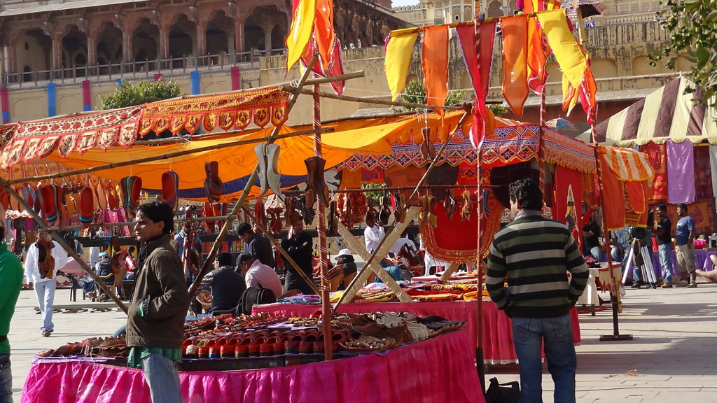 Outdoor market in Jaipur