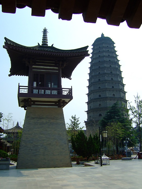 There is a Tang dynasty treasure-house beneath the pagoda