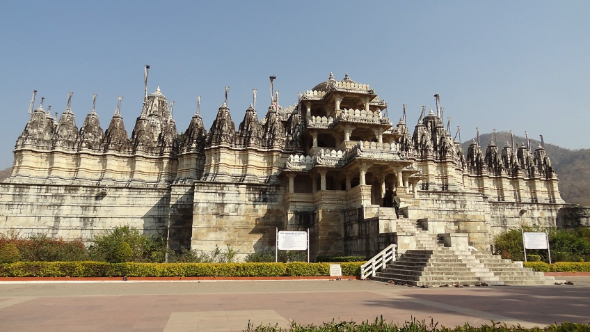 The marble Jain temple at Ranakpur