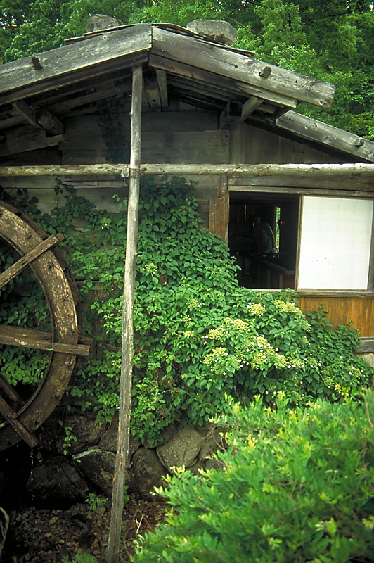 An old water-mill near Takayama