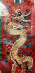 Dragon chasing a flaming pearl (Taoist priest's robe, V&A museum)