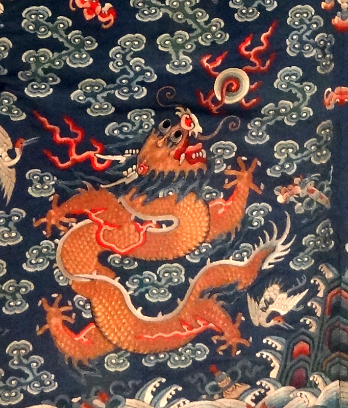 Dragon on a court robe (V&A museum)