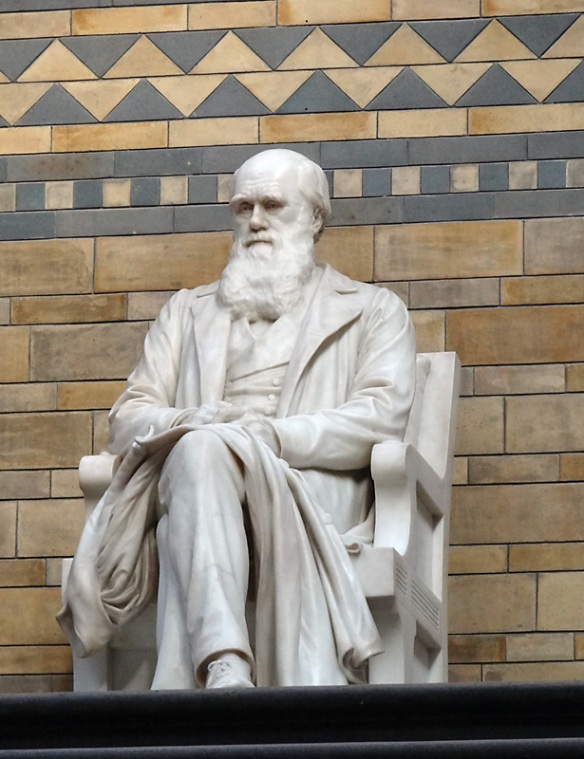 The greatest figure in biology looking over the main hall