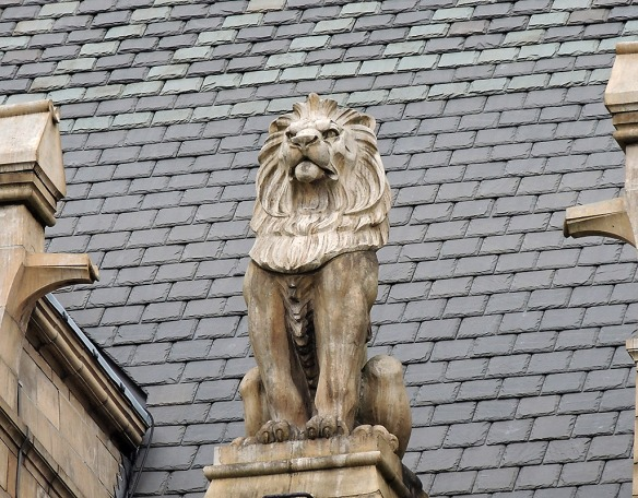 This lion, like all the other beasts, was modelled from Waterhouse's own drawings